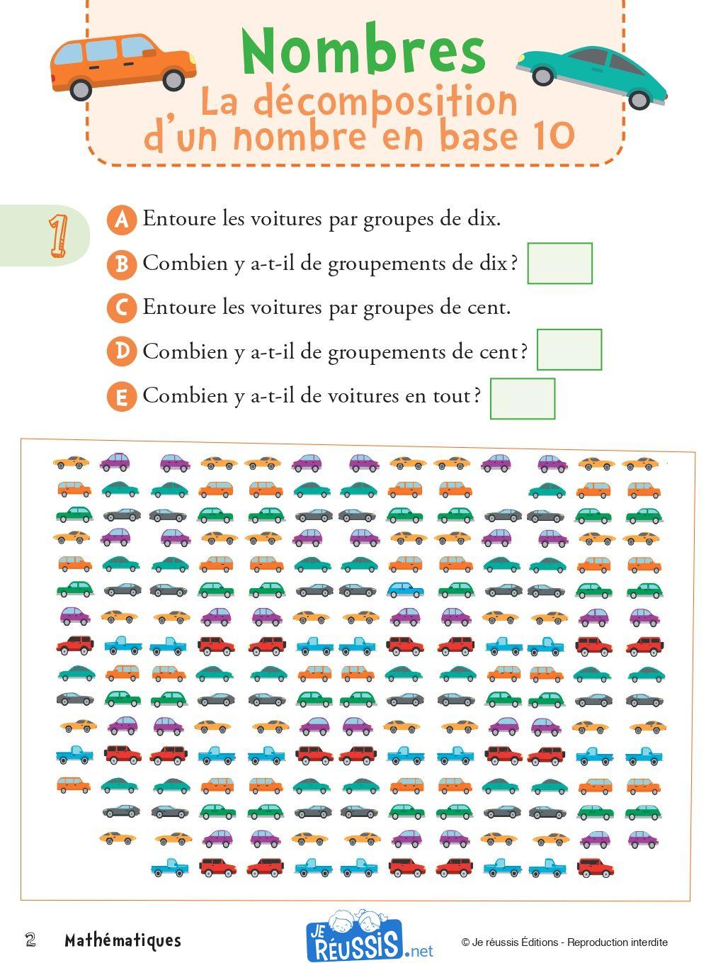 Exercices De Mathematique Pour Le Ce1 Je Reussis