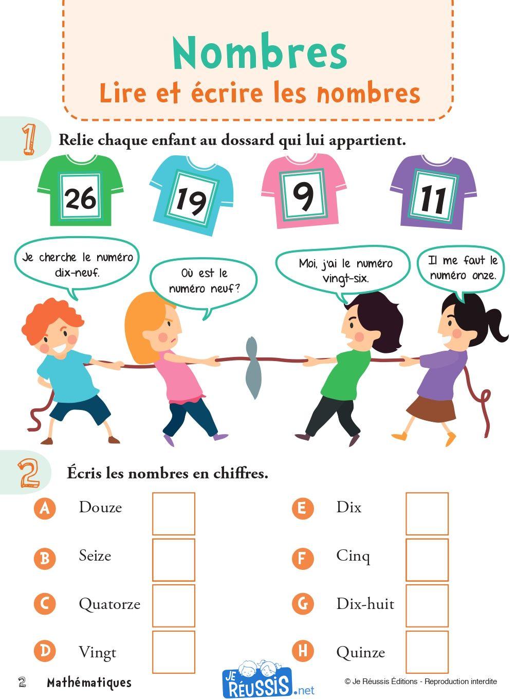 Exercices De Mathematique Pour Le Cp Je Reussis